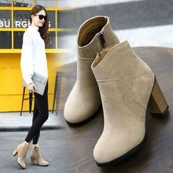 Anran - Chunky Heel Ankle Boots