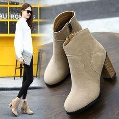 安若 - 粗跟踝靴