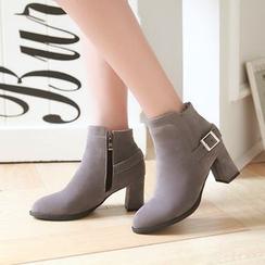 Pastel Pairs - 粗跟踝靴