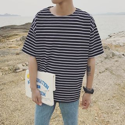 CooLook - 條紋短袖T恤