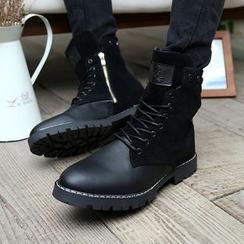 Easy Steps - 拼接结带中筒靴