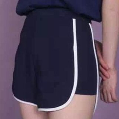 Fashion Street - Tipped Sweat Shorts