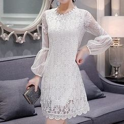 Lovebirds - Lace A-Line Dress