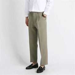 THE COVER - Wide-Leg Cotton Dress Pants