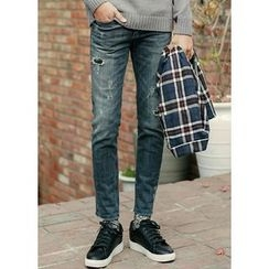 JOGUNSHOP - Distressed Straight-Cut Jeans
