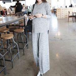 NEUF - 孕妇套装: 宽松上衣 + 宽腿裤