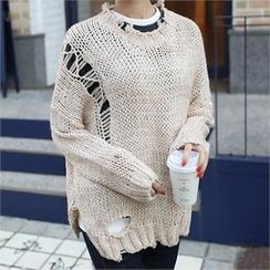 CHICFOX - Distressed Sweater