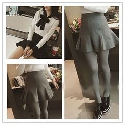 YOSH - Ruffle Hem Mini Skirt