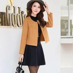 NINETTE - 蕾絲拼接夾克短裙两件套装