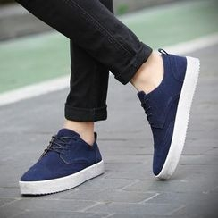 Preppy Boys - Wing-Tip Lace-Up Sneakers