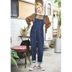 GOROKE - Wide-Leg Denim Jumper Pants