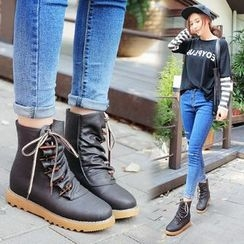 YIVIS - Rhinestone Toggle Short Boots