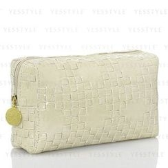 Estee Lauder - Light Khaki Wicker-Print Bag