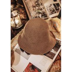 GOROKE - Inset-Wire Wool Blend Bucket Hat