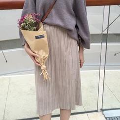 Moon City - Pleated Midi Skirt