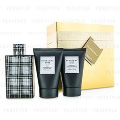 Burberry - Brit Coffret: Eau De Toilette Spray 100ml/3.3oz + Body Cleansing Gel 100ml/3.3oz + After Shave Balm 100ml/3.3oz (Gold Box)