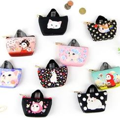 BABOSARANG - 'Choo Choo' Cat Series Coin Purse with Handle