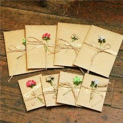 Homey House - Flower Christmas Card
