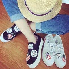 Shoeland - 厚底网纱轻便鞋