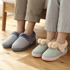 Lazy Corner - 刷毛邊拖鞋