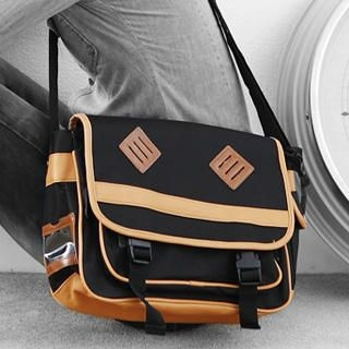 MURATI - Faux-Leather-Trim Messenger Bag