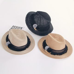 Reyna - Straw Fedora Hat