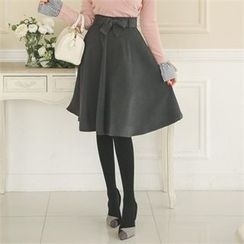 ode' - Tie-Waist A-Line Skirt