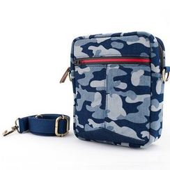 Plume Moon - Camouflage-Print Denim Cross Bag