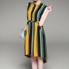 Alaroo - 无袖细条纹连衣裙