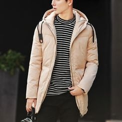 Bay Go Mall - Plain Hooded Down Coat