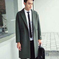 Zeesebon - 平驳领长款呢子大衣