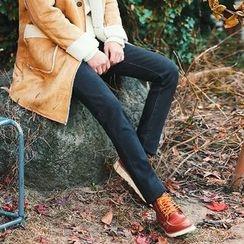 MEOSIDDA - Brushed-Fleece Lined Slim-Fit Jeans