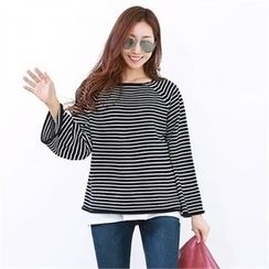 PIPPIN - Raglan-Sleeve Striped Knit Top
