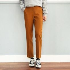 Seoul Fashion - Banded-Waist Dress Pants