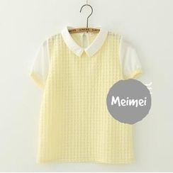 Meimei - Short-Sleeve Chiffon Blouse