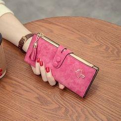 Vintage Kiss - Faux Leather Long Wallet