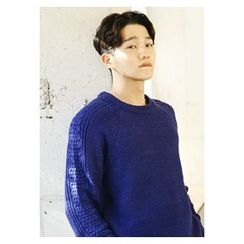 HOTBOOM - Raglan-Sleeve Cable-Knit Sweater