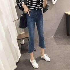 Phyllis - Cropped Boot Cut Jeans