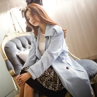 Styleberry - Double Breasted Trench Coat with Sash
