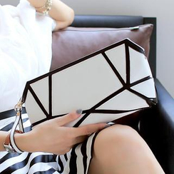 Youshine - Geometric Wristlet with Shoulder Strap