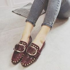 Crystella - Studded Loafers