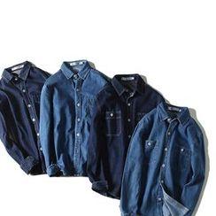 除一 - 牛仔布衬衫