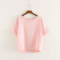 三木社 - 短袖格子T恤