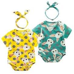Madou - Baby Rabbit Print Bodysuit