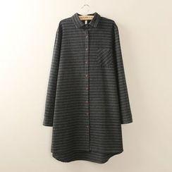 Tangi - 条纹刷毛衬衫裙