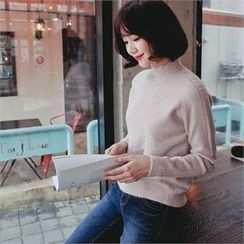 Styleberry - Scallop-Neckline Wool Blend Sweater