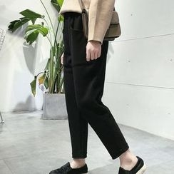 Melon Juice - Plain Tapered Woolen Pants