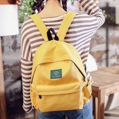 Youme - Plain Canvas Backpack