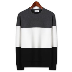 Seoul Homme - Three-Tone Knit Pullover