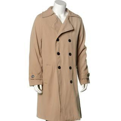 Free Shop - Double-Breasted Long Coat